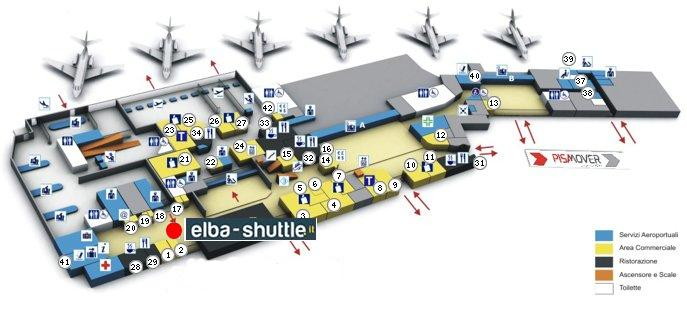 meeting point Aeroporto Pisa - Elba Shuttle